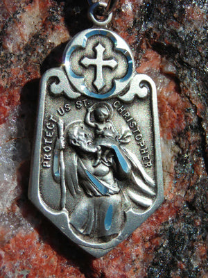 Christopher Medal with Cross