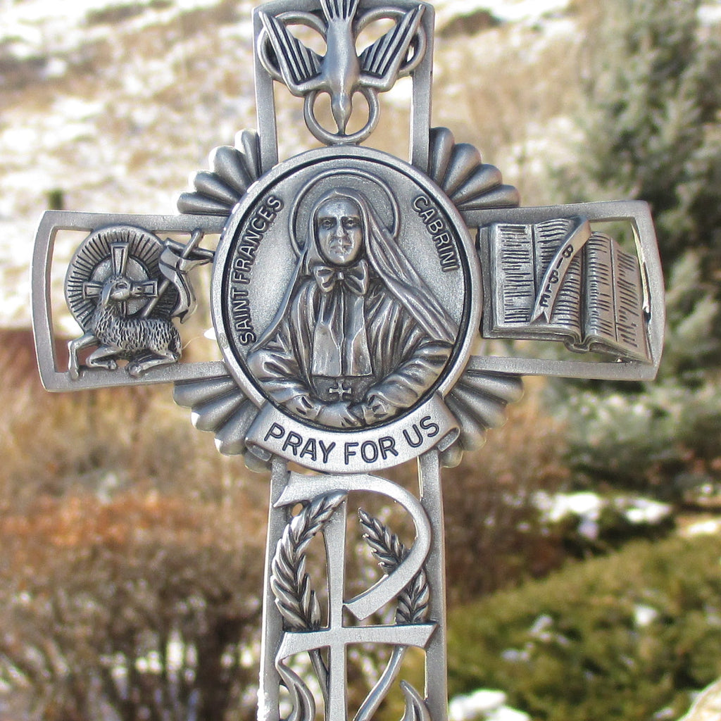 Cabrini Pewter Wall Cross