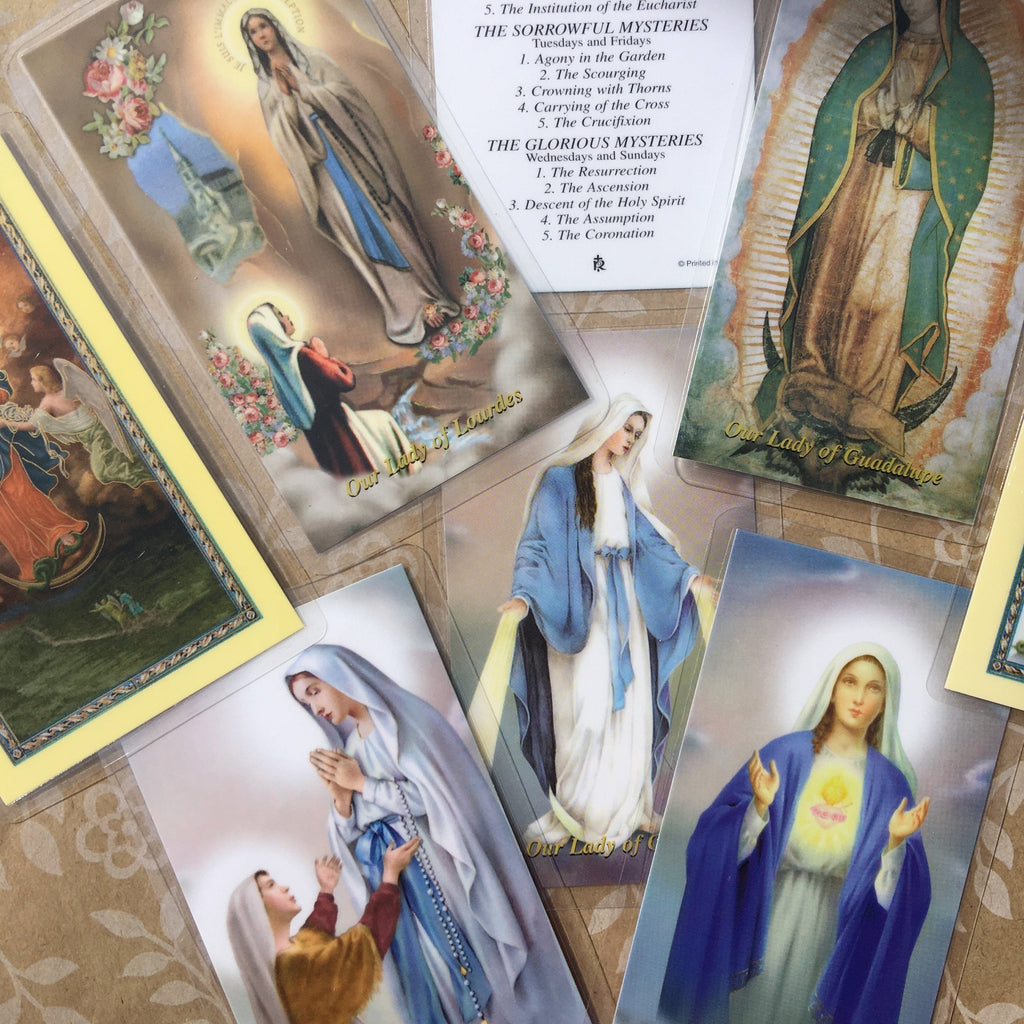 Mary Holy Cards