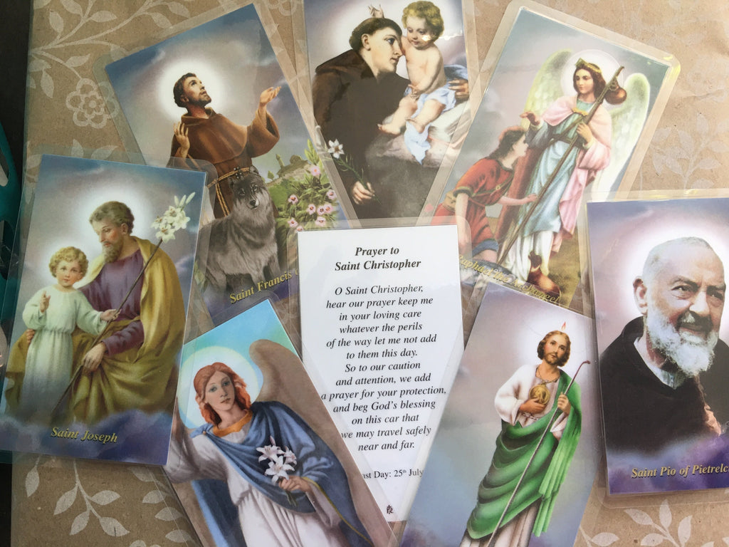 Male Saint Holy Cards