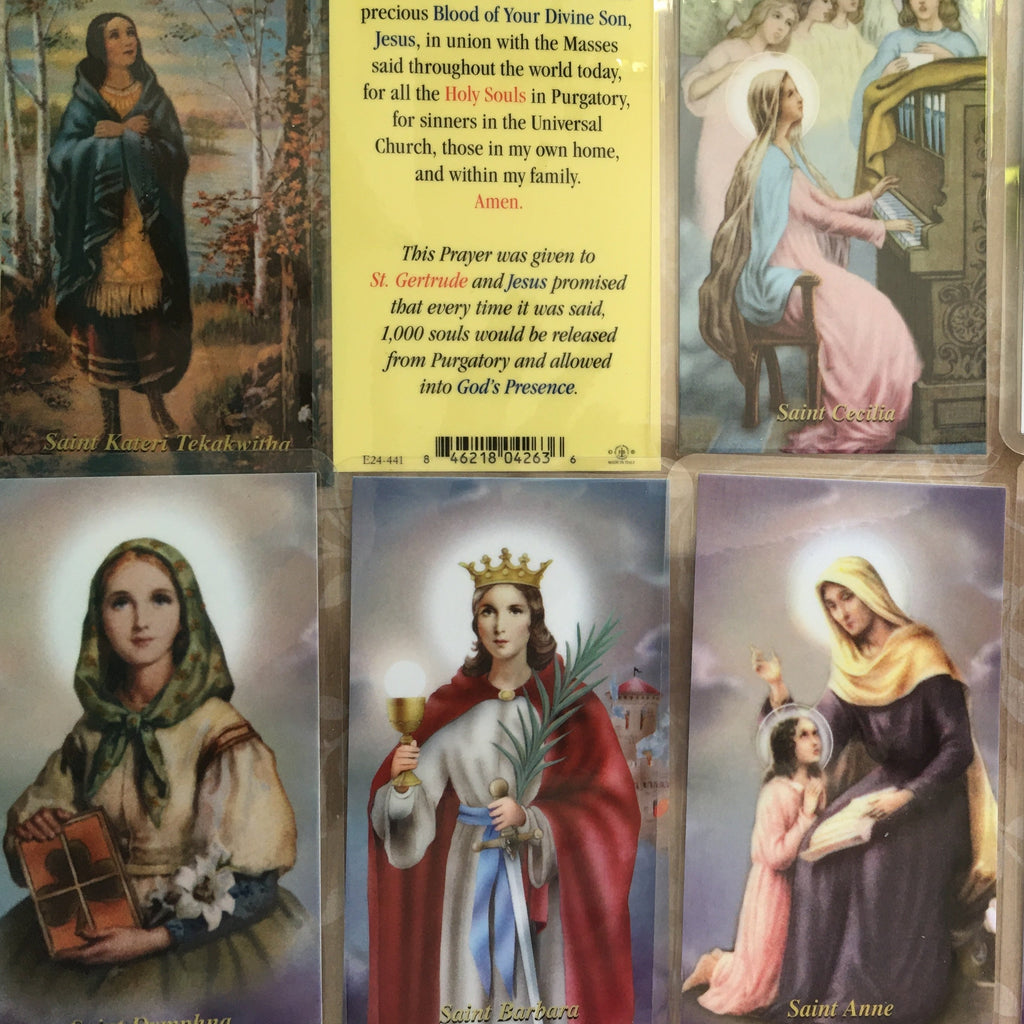 Female Saint Holy Cards