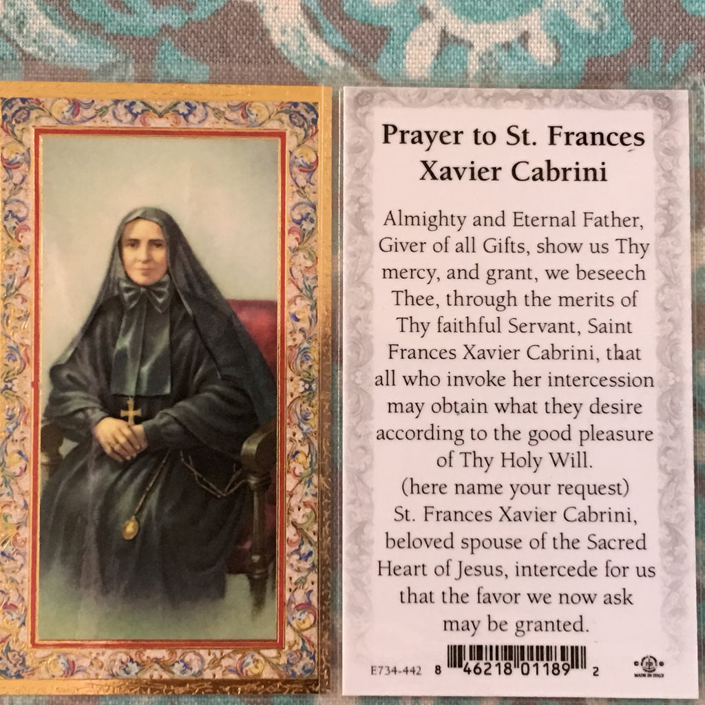Cabrini Prayer Card