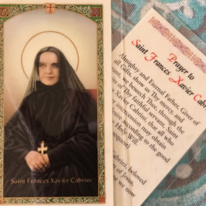 Mother Cabrini Card with Green Border