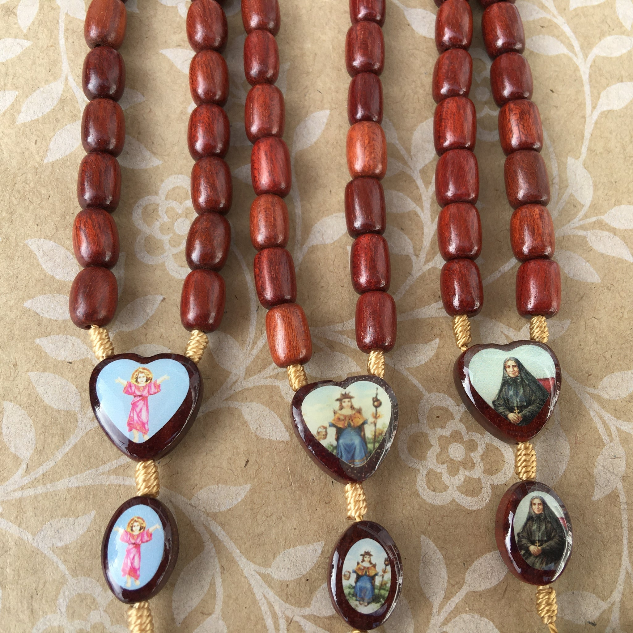 Wood Bead Devotional Rosary