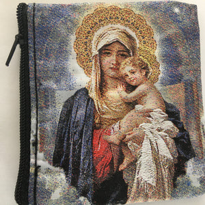 Mother and Child Rosary Case