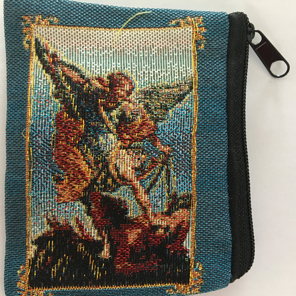 Michael Embroidered Rosary Bag