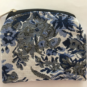 Blue Tapestry Pouch
