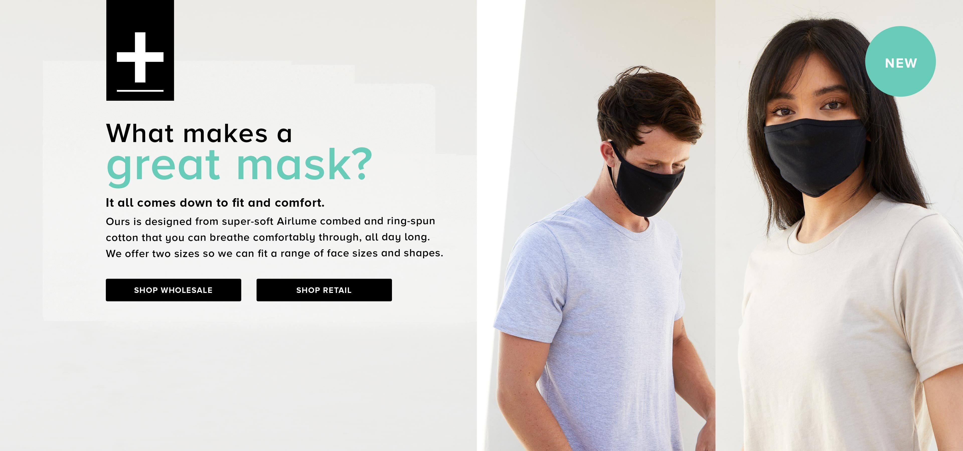 what makes a great mask banner, two people wearing black face covers