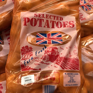 10kg Pre-Packed Washed White Potatoes