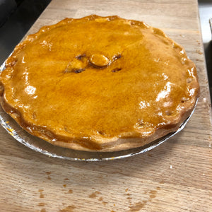 "Large Steak and Potato Pie (9"" Round)"