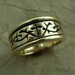 -Thorns Ring 14K Yellow-Mens size 8.5