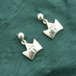 Crown of Life Post Earrings, Sterling