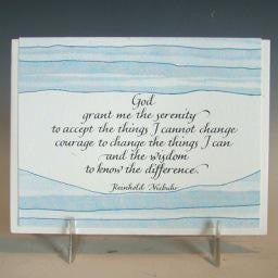 Serenity Prayer, Card