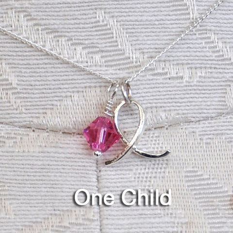 AD Mother's Birthstone Necklaces-1 Child