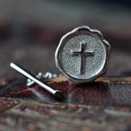 Sealed in Christ Tie Tac, 14KW