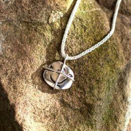 "Freedom in Christ Stone on 18"" Sterling Chain"