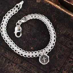 Sealed in Christ Charm Bracelet, Sterling