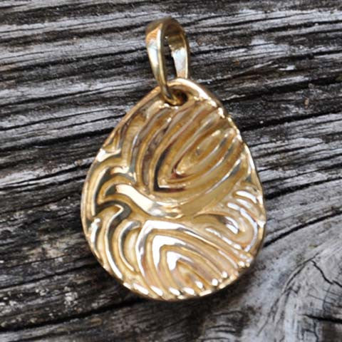 God's Touch Dove, 14K Yellow Gold