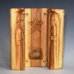 Nativity, Kenya Wood Log