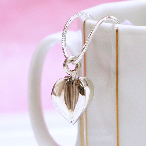 3D Heart in Sterling Silver