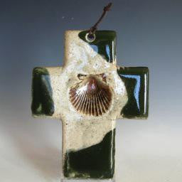 Green Baptism Cross