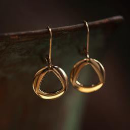 Circle Earrings, 14KY