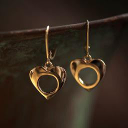 Heart Earrings-14K