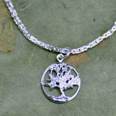 Tree of Life Charm on Byzantine Bracelet