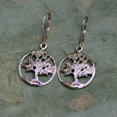 Tree of Life Earrings-14K Yellow