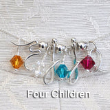 AD Mother's Birthstone Necklaces-4 Children
