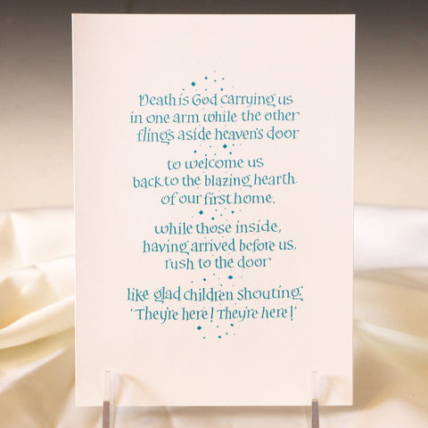 Homecoming Party Sympathy Card
