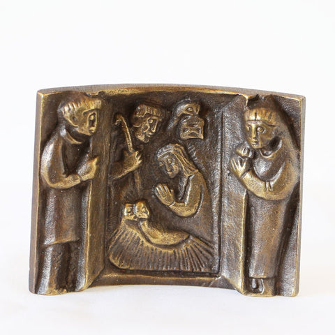 Nativity, Bronze Curved