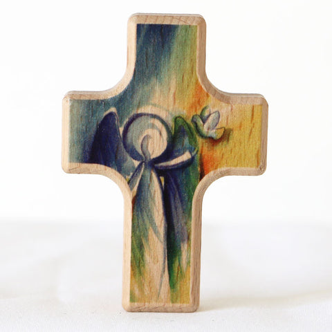 Cross, Wooden, Angel and Dove
