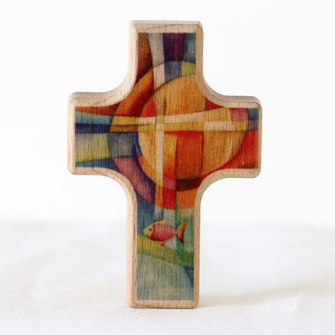 Cross, Wooden, Fish