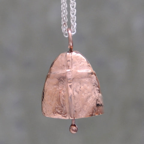 Prayer Bell Necklace-14K Rose Gold