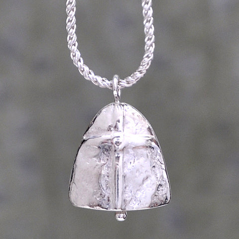 Prayer Bell Necklace - Sterling Silver