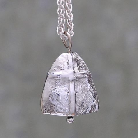 Prayer Bell Necklace - 14K White Gold
