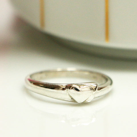 Simple Heart Ring, Sterling