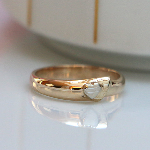 Simple Heart Ring, 14K