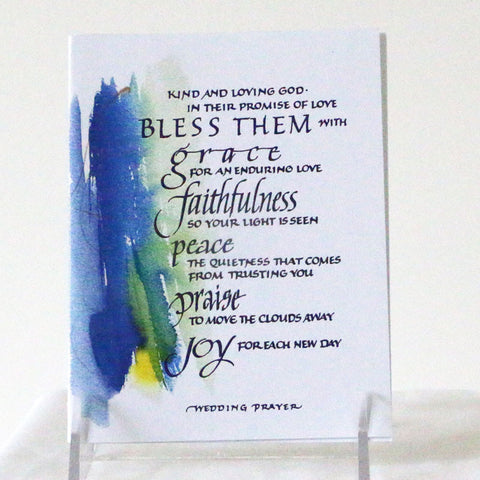 Card, Wedding in Blue