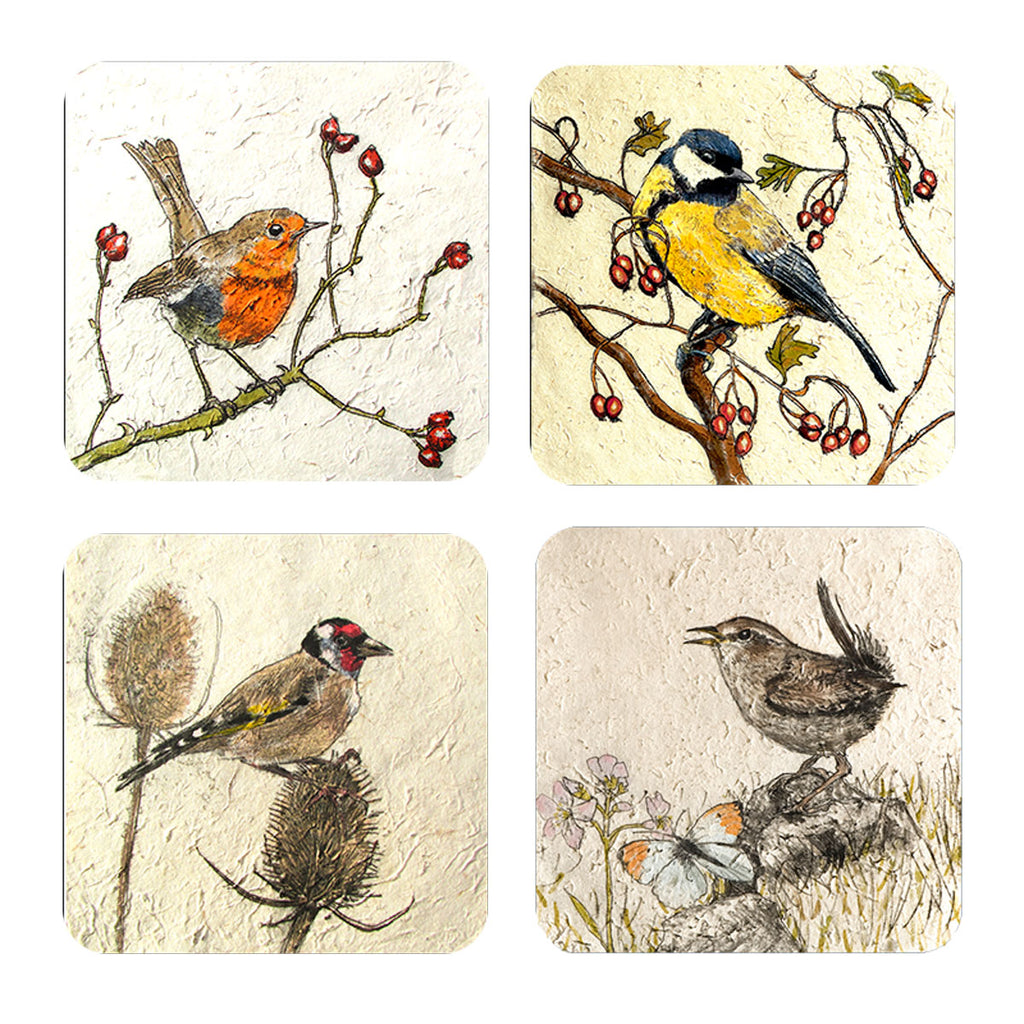 'Garden Birds' Tablemat & Coaster sets
