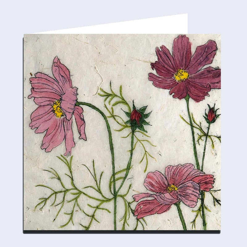 'Cosmos' Greeting Card