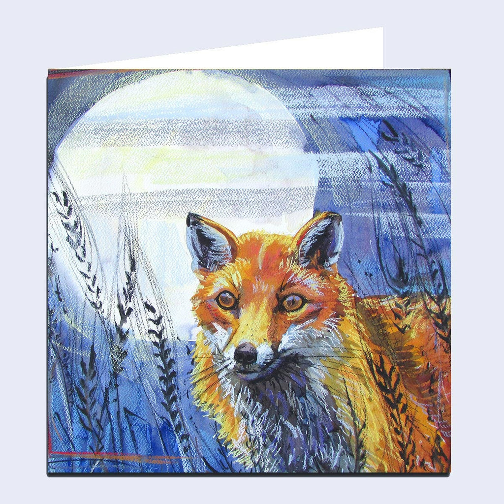'Fox and Moon' Greeting Card
