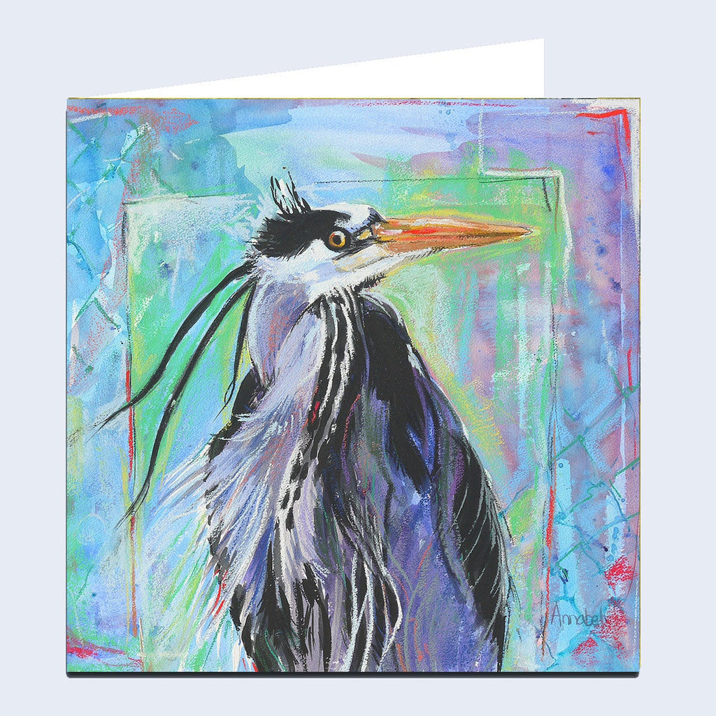 'Heron' Greeting Card