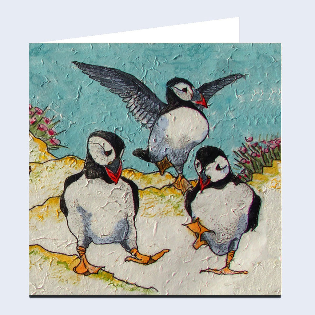 'Puffin Circus' Greeting Card