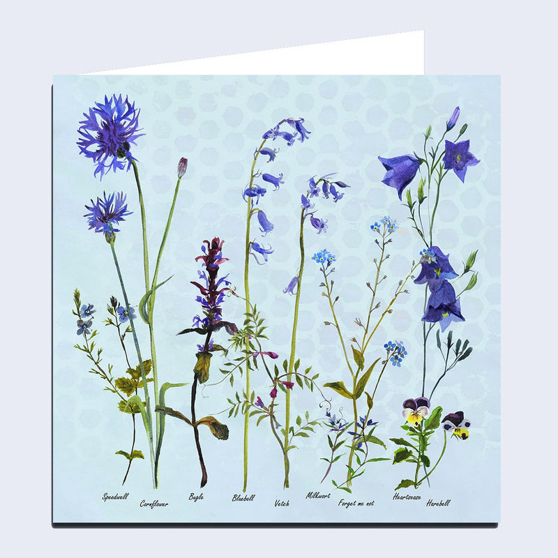 Wildflowers 'The Blues' Greeting Card
