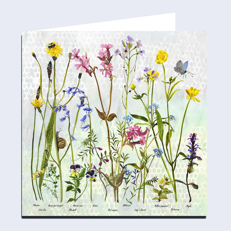 Wildflowers 'Spring' Greeting Card