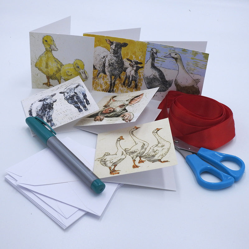 'Farmyard' Mini Cards Box Set