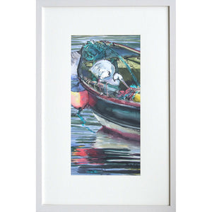 'Heron on Boat' Limited Edition Print