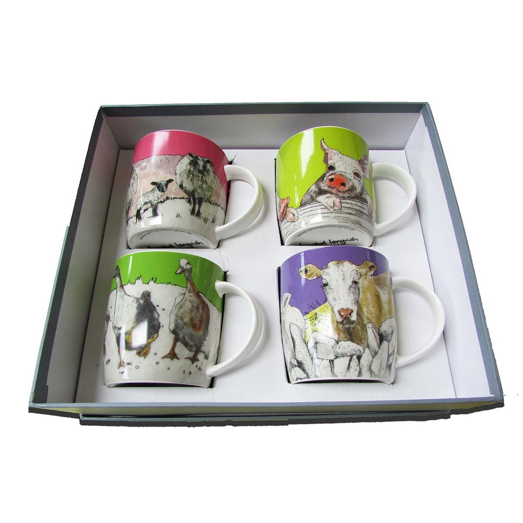 'Farmyard' Mug Giftbox Set